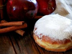 donut με γεύση μήλο-κανέλα