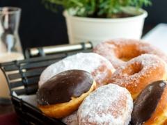 donuts λουκουμάς σοκολάτα
